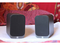 Q Acoustics 3010 Speakers, Matte Graphite, boxed, excellent condition