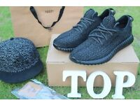 Brand New Adidas Black Yeezy 350 boost TIrainers with Original Box