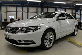 VW CC GT TDI BLUEMOTION TECHNOLOGY DSG [SAT NAV / LEATHER / 1 OWNER] (pure white) 2015