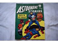 Vintage Astounding Stories Captain America Alan Class Comic No.63 1 Shilling 68 Pages Near Mint!