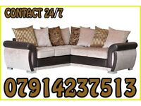 THIS WEEK SPECIAL OFFER SOFA BRAND NEW BLACK & GREY OR BROWN & BEIGE HELIX SOFA SET 5465