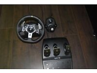 Used G920 steering wheel set + shifter with 1 and a half years warranty remaining