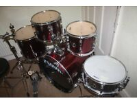 """Sonor Force 507 Wine Red 5 Piece Drum Kit (20"""" Bass) - DRUMS ONLY"""