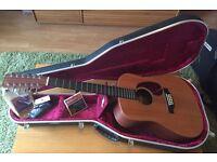 Martin D12X1 12-string guitar bundle