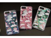 iPhone6 &7 Unicorn Hearts Liquid Glitter Quicksand Cover £5