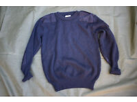 British Royal Navy Issue Wool Jersey / Pullover / Jumper
