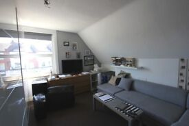 Top floor studio flat with spacious modern kitchen and a shower room/w.c. Avail July 28-Unfurnished