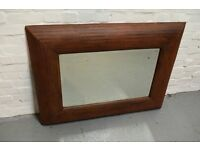 Contemporary Industrial styled, rust finish mirror (DELIVERY AVAILABLE)
