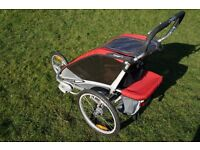 Chariot Cougar 1 Bike trailer / Running Buggy with third wheel and brake upgrade kits