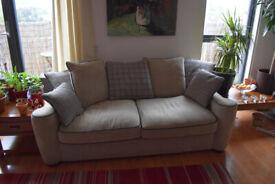 Ivory sofa - 3 seater