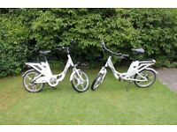 A pair of luxury EBCO LSL:50 Eagle Electric Bikes - 2 years old and in excellent condition