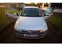 2002 Vauxhall Corsa Comfort 1.2L 3-door Silver