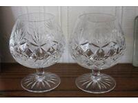 Cut glass brandy glasses