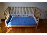 IKEA baby cot beech