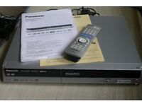 PANASONIC DVD Recorder for viewing discs and recording TV channels.