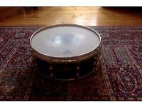 "Pearl masters ""black mist"" premium maple snare 14"", gold hardware"
