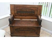 Antique Monk Bench