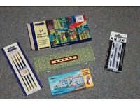 Acrylic & water colour paint tubes, artist brushes & arts & craft hobby knife