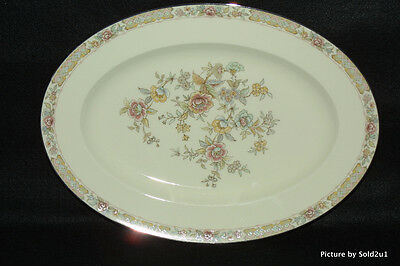 Noritake 9720 Imperial Garden 14 3 8 Oval Serving Platter Exc