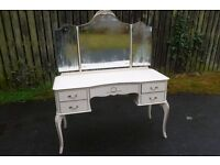 VINTAGE SHABBY CHIC LOUIS FRENCH STYLE DRESSING TABLE