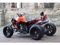 NEW 2016 250CC ORANGE ROAD LEGAL QUAD BIKE ASSEMBLED IN UK 66 PLATE OUT NOW!! FREE NEXT DAY DELIVERY