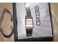 1980s Seiko quality ladies quartz watch with box & paper
