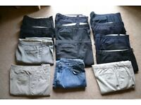 13 PAIRS OF MENS TROUSERS/JEANS or BUY INDIVIDUALLY VERY GOOD CONDITION