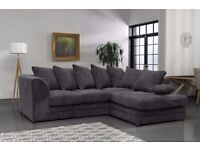 Stunning Brand New Jumbo Cord Corner Sofas. Many colours. quick delivery