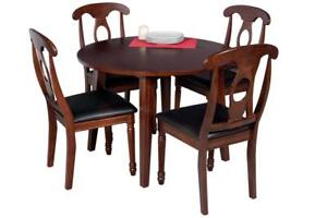 Caroline Five Piece Dining Set In Espresso