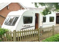2008 Swift Archway Hartwell 4 berth caravan - fixed double bed.