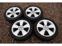 "Genuine 17"" Audi A3 S line Alloy Wheels 225/45R17 Winter Snow Tyres VW Golf Mk5 2nd & 3rd Generation"
