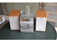 Sony compact hi fi with remote control.