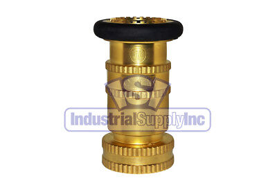 Fire Hose Nozzle With Bumper 1-12 National Pipe Thread Npt Brass