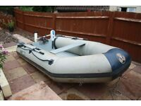 Yamaha Inflatable Dinghy 10ft and Saltwater 45lb thrust Flover electric outboard
