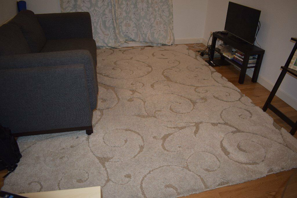 Shag area rug245cm x 305cmin Islington, LondonGumtree - Shag area rug with damask like design. 8ft x 10ft. About 3 years new. Needs a clean, but shag is still in good condition. Very comfortable when sitting of laying on the floor!