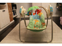 Rainforest Baby swing chair, Fisher Price