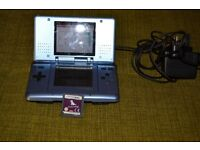 nintendo ds console + game .