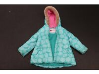 Girls padded coat By Marks & Spencer Age 3-4yrs.