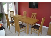 Extending Oak Dining Table by Next, comfortably seats 6 to 8