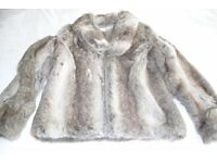 Jacket length mock fur jacket