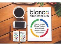 Graphic Designer: Brand image, Leaflets, Signals, Web and phone, Photo retouching.