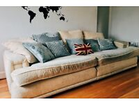 Habitat cream 4 seater sofa