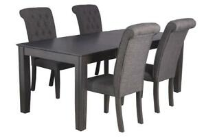 Charlotte Five Piece Dining Set In Dark Gray