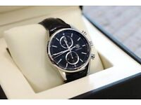 Tag Heuer 1887 Carrera Watch Automatic Chronograph leather strap Black 41mm CAR2110-4 £1749
