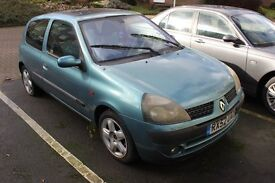 2002 Renault Clio 1.2 16V ___ NO MOT ___ NON RUNNER ___ IMMOBILISER FAULT ___ FOR SPARES OR PARTS