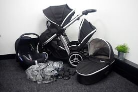 BabyStyle Oyster Max Double - Black Travel System