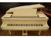 Bentley baby grand piano, brand new, in white. With matching stool and free delivery UK wide
