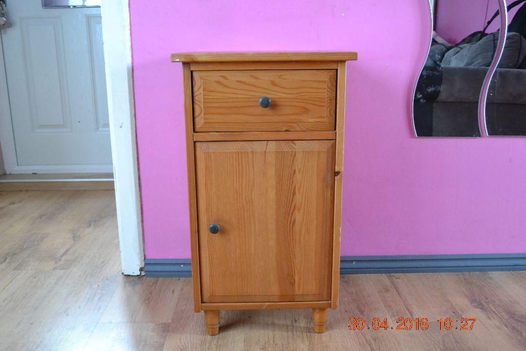 1 x ikea hemnes antique pine bedside table cabinet bedroom furniture in lenton abbey. Black Bedroom Furniture Sets. Home Design Ideas