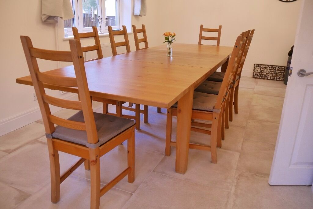 IKEA Stornas Dining Table And 10 Kausby Chairs FOR SALE