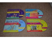 4 Roald Dahl Audio Book CDs